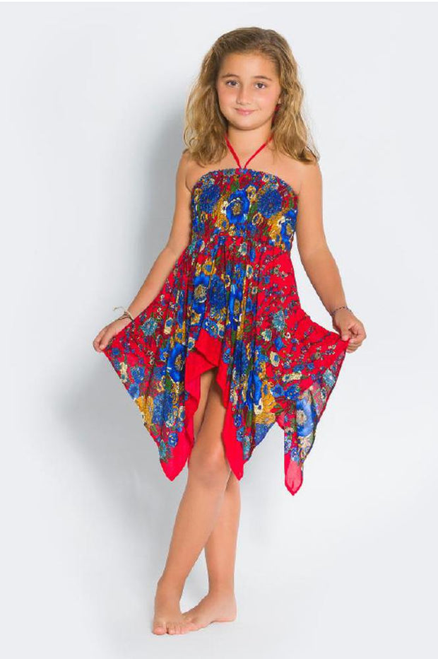 Girls SQ Dress-Girls Dress-Lannaclothesdesign Shop-6 Years-Red-Lannaclothesdesign Shop