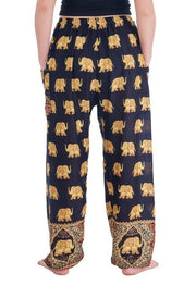 Gold Elephant Drawstring Pants-Drawstring-Lannaclothesdesign Shop-Lannaclothesdesign Shop
