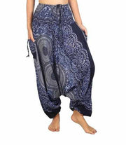 Harem Jumpsuit Pants-Harem Jumpsuit-Lannaclothesdesign Shop