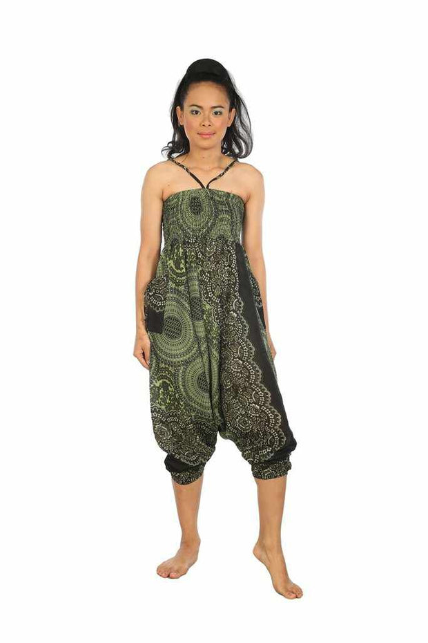Harem Jumpsuit Pants-Harem Jumpsuit-Lannaclothesdesign Shop-Green-Small-Medium-Lannaclothesdesign Shop