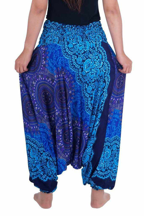 Harem Pants Mandala Print-Harem Jumpsuit-Lannaclothesdesign Shop-Lannaclothesdesign Shop