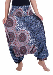 Harem Pants Mandala Print-Harem Jumpsuit-Lannaclothesdesign Shop