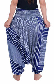 Harem Pants Striped Design-Harem Jumpsuit-Lannaclothesdesign Shop-Lannaclothesdesign Shop