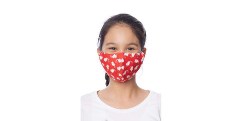Kids Face Masks Set of Mix of 5 Cotton Face Masks with Filter Pocket-Face Mask-Lannaclothesdesign Shop-Lannaclothesdesign Shop
