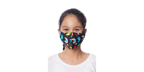 Kids Face Masks Set of Mix of 5 Cotton Face Masks with Filter Pocket-Face Mask-Lannaclothesdesign Shop