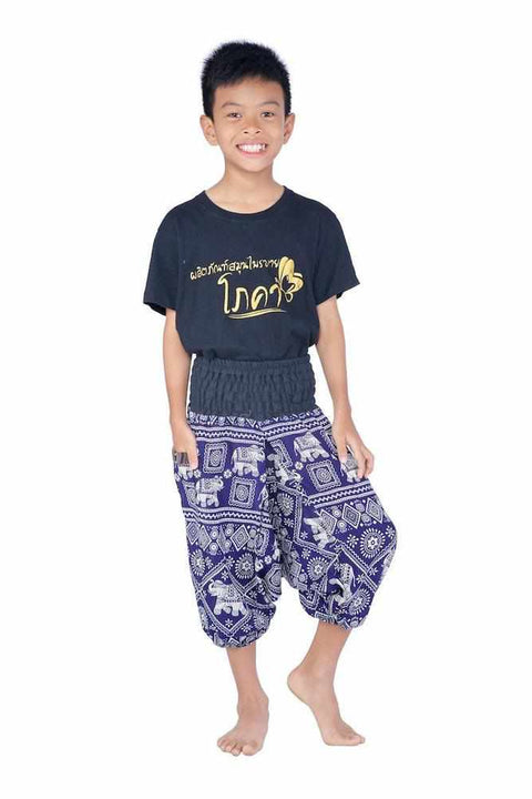 Kids Harem Jumpsuit Pants-Kids Jumpsuit-Lannaclothesdesign Shop-4 Years-Dark Blue-Lannaclothesdesign Shop