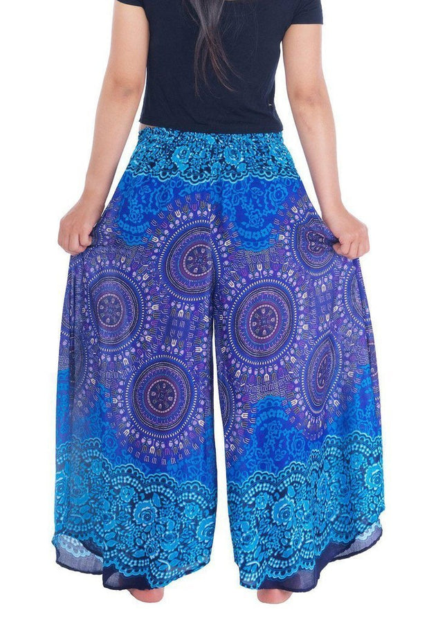 Lounge Rose Circle Palazzo Pants-Palazzo-Lannaclothesdesign Shop