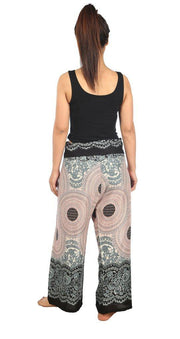 Mandala Fisherman Yoga Pants-Fisherman-Lannaclothesdesign Shop