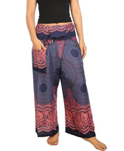 Mandala Fisherman Yoga Pants-Fisherman-Lannaclothesdesign Shop-Small-Medium-Dark Blue-Lannaclothesdesign Shop