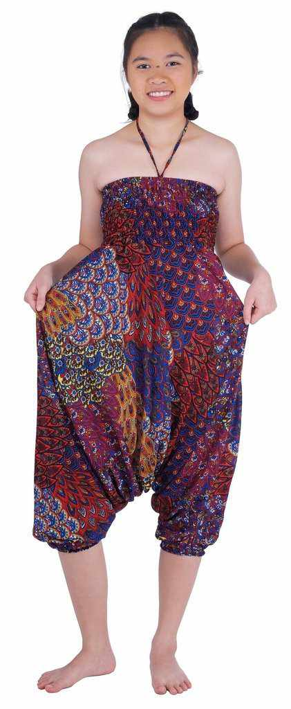 Peacock Harem Pants-Harem Jumpsuit-Lannaclothesdesign Shop-Lannaclothesdesign Shop