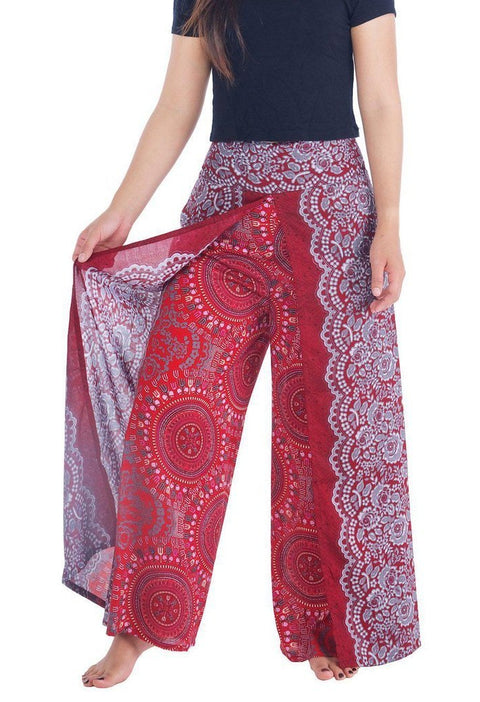 Rose Circle Wide Leg Pants-Wide Leg-Lannaclothesdesign Shop