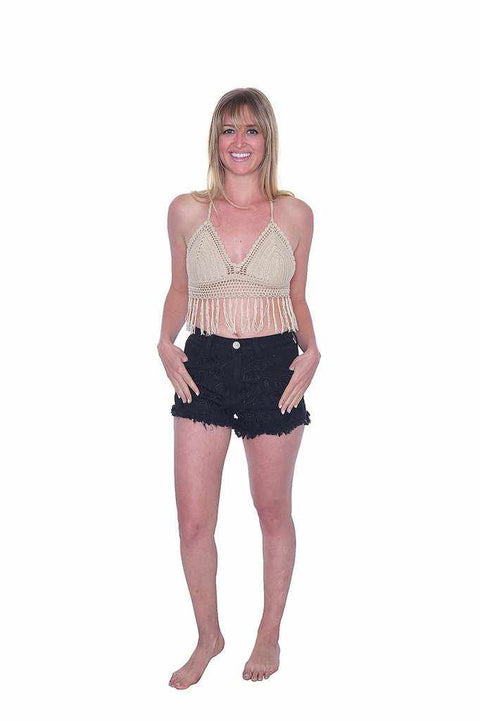 Sexy Crochet Crop-Crochet Top-Lannaclothesdesign Shop