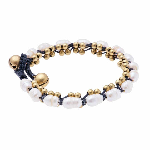 Simulated Pearl Bracelet-Bracelet-Lannaclothesdesign Shop