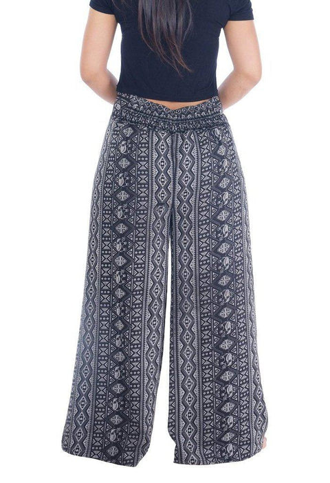 Wide Leg Pants Elephants Design-Wide Leg-Lannaclothesdesign Shop