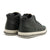 High Top Sneakers Full Grain Leather with Zip - Black