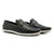 Boat Shoes Full Grain Leather Moccasin - Black