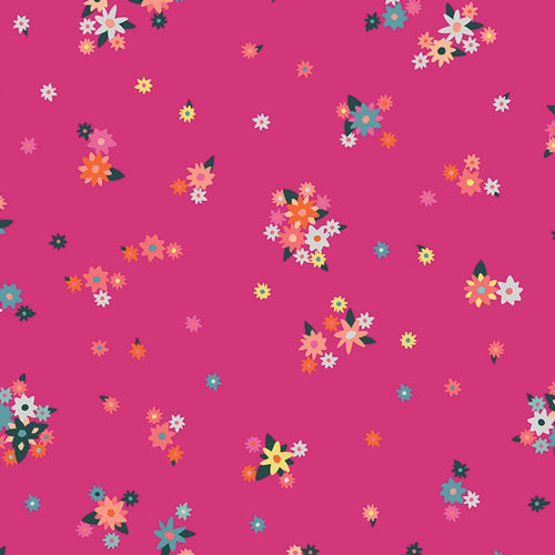 Art Gallery Fabrics Loved to Pieces Efflorescent Fuschsia