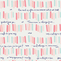 Art Gallery Fabrics Quoted from Paperie designed by Amy Sinibald