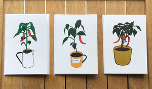 Chillies Greetings Cards