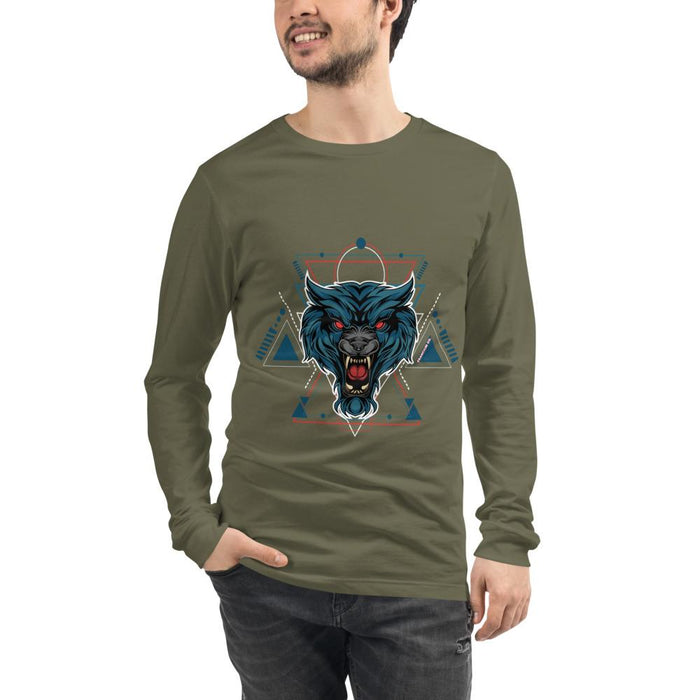 Red Eyed Wolie Men's Long Sleeve Tee - Francium Co.
