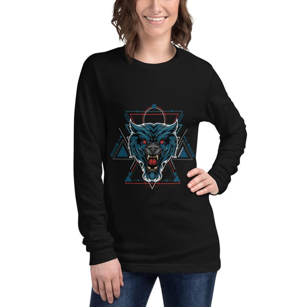 Red Eyed Wolie - Women's Long Sleeve Tee - Francium Co.