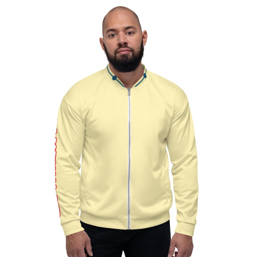 Red Eyed Wolie Bomber Jacket - Yellow - Francium Co.