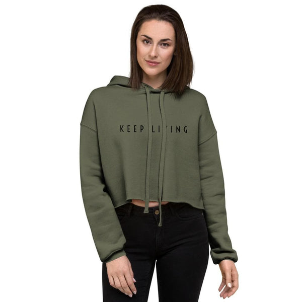 Keep Living Women's Crop Hoodie - Francium Co.