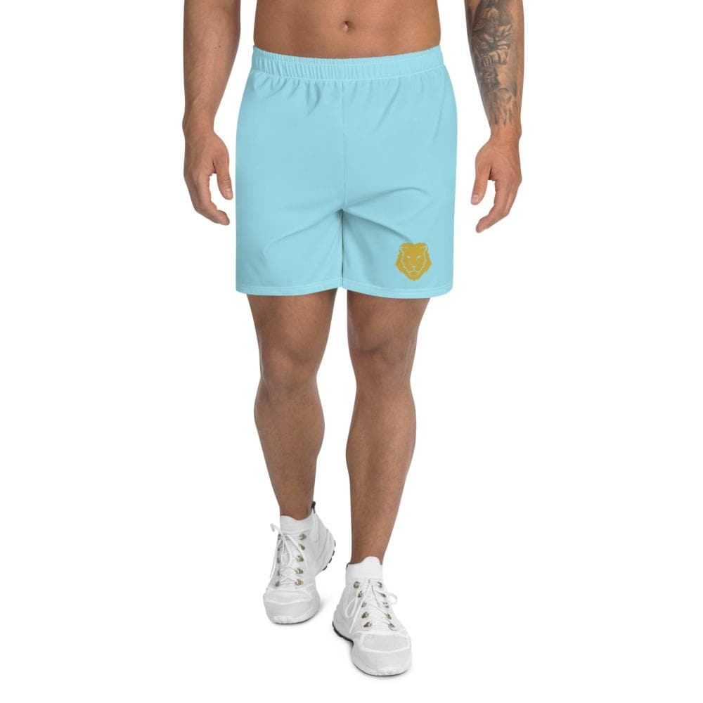 Men's Athletic Long Shorts - Aqua - Francium Co.
