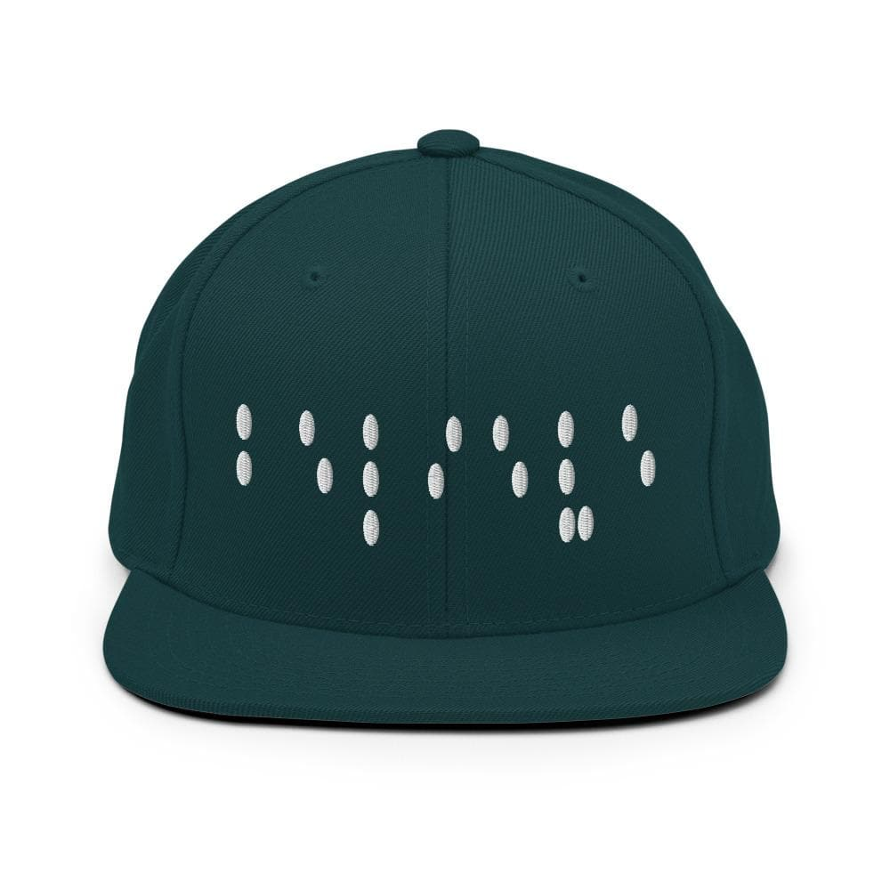 Believe In Braille 3D stitched Snapback Hat - Francium Co.