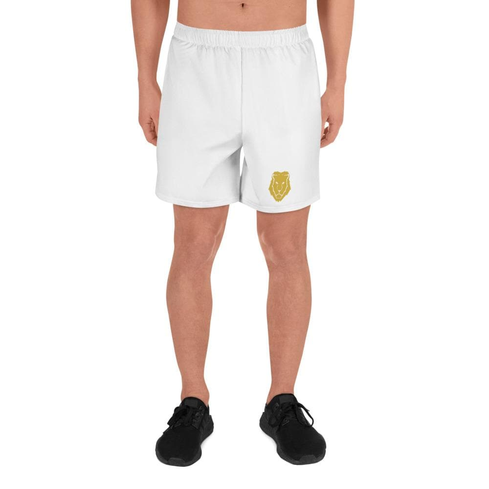 Men's Athletic Long Shorts - White - Francium Co.