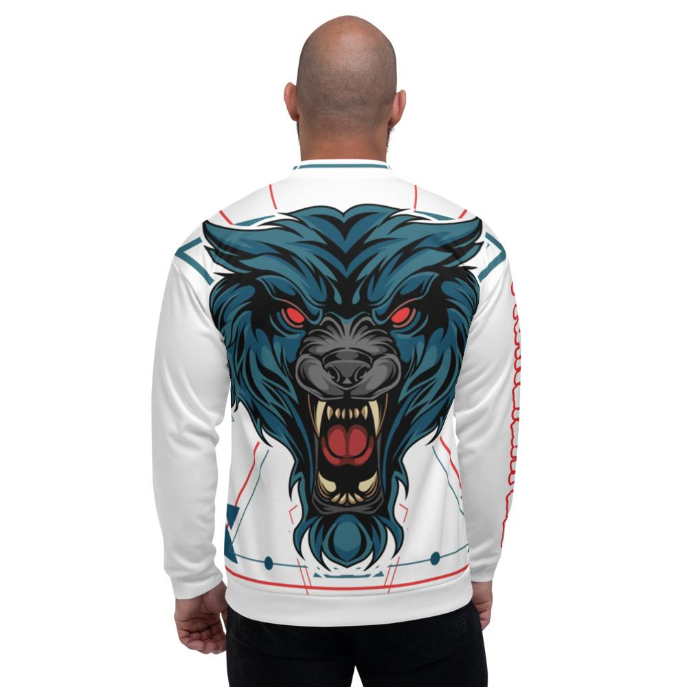 Red Eyed Wolie Bomber Jacket - White - Francium Co.