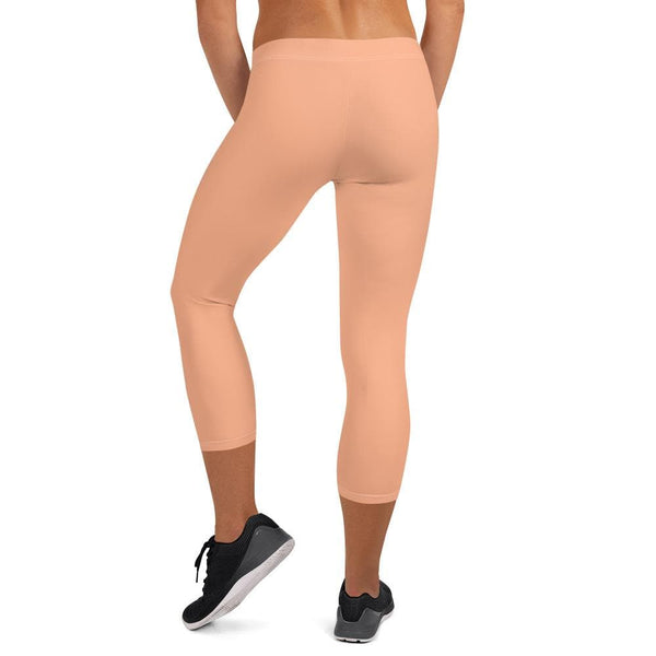 Capri Leggings - Peach - Francium Co.