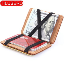 Load image into Gallery viewer, Fashion Men Slim Wallet Male Ultra thin Short Men Magic Wallet Money Cash Card Holder Purse