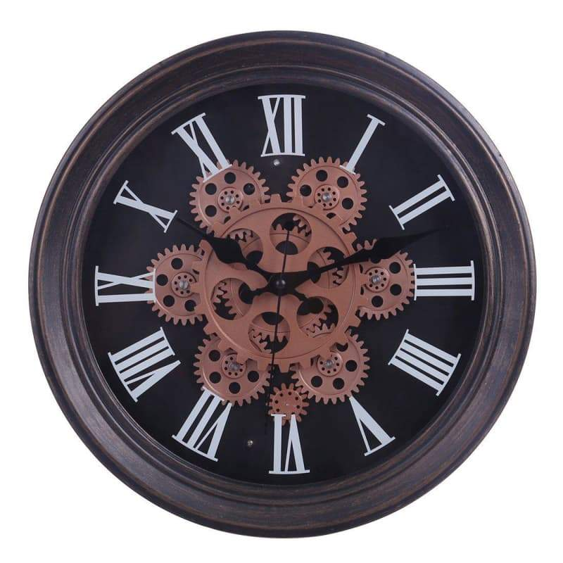 Horloge Steampunk <br> Engrenages Mouvants