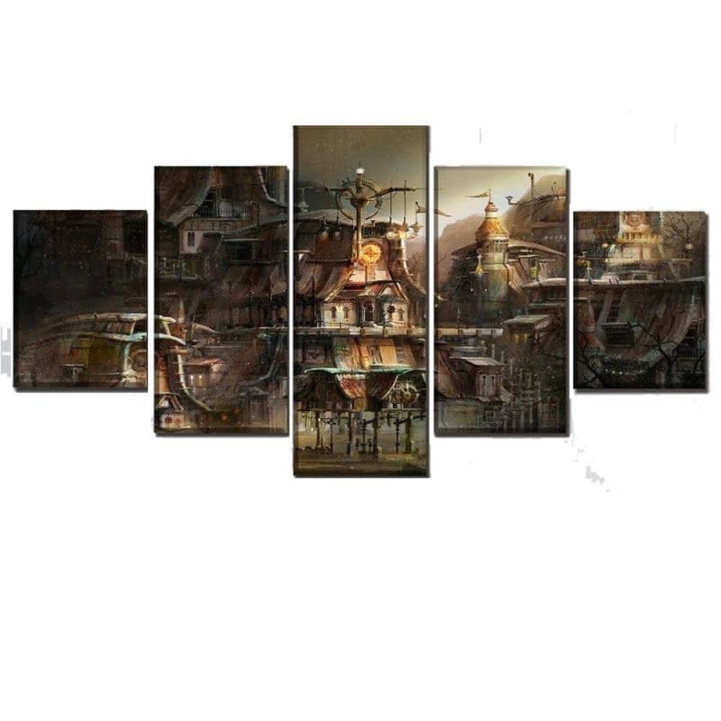 Tableau Steampunk <br> Village Perdu