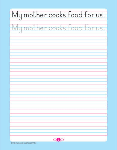 DIVISHA ENGLISH HANDWRITING BOOK   5