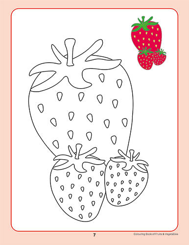 Colouring Book of Fruits & Vegetables