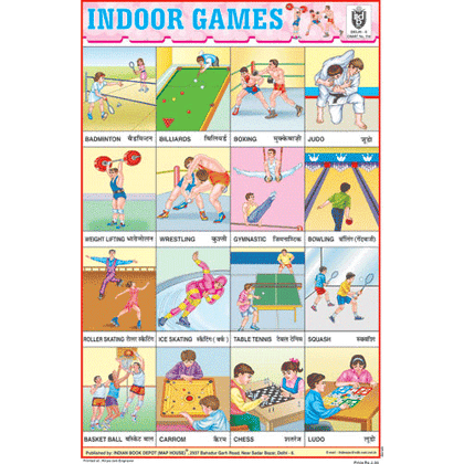INDOOR GAMES SIZE 24 X 36 CMS CHART NO. 114 - Indian Book Depot (Map House)