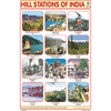 HILL STATIONS OF INDIA SIZE 24 X 36 CMS CHART NO. 115 - Indian Book Depot (Map House)