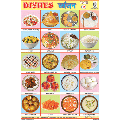OUR DISHES PART II CHART SIZE 12X18 (INCHS) 300GSM ARTCARD