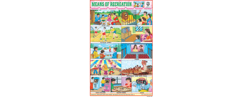 MEANS OF RECREATION SIZE 24 X 36 CMS CHART NO. 127 - Indian Book Depot (Map House)