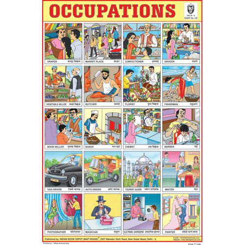 OCCUPATIONS CHART CHART SIZE 12X18 (INCHS) 300GSM ARTCARD - Indian Book Depot (Map House)