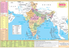 INDIA POLITICAL & ADJACENT COUNTRIES CHART SIZE 12X18 (INCHS) 300GSM ARTCARD - Indian Book Depot (Map House)