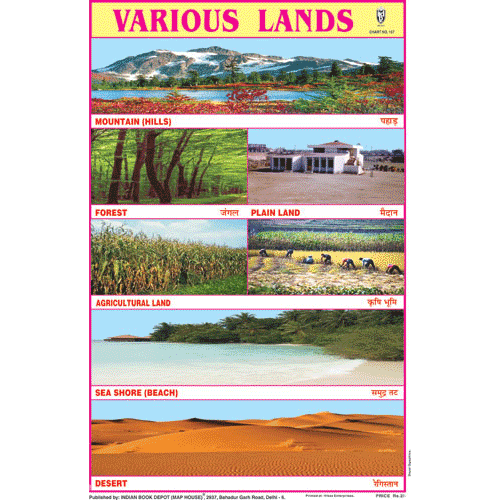 VARIOUS LANDS SIZE 24 X 36 CMS CHART NO. 157 - Indian Book Depot (Map House)