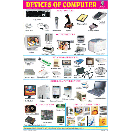 DEVICES OF COMPUTER CHART SIZE 12X18 (INCHS) 300GSM ARTCARD - Indian Book Depot (Map House)