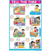 TELL THE TIME CHART SIZE 12X18 (INCHS) 300GSM ARTCARD