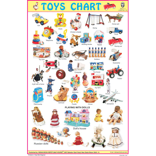 TOYS CHART SIZE 12X18 (INCHS) 300GSM ARTCARD
