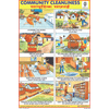 COMMUNITY CLEANLINESS CHART SIZE 12X18 (INCHS) 300GSM ARTCARD - Indian Book Depot (Map House)