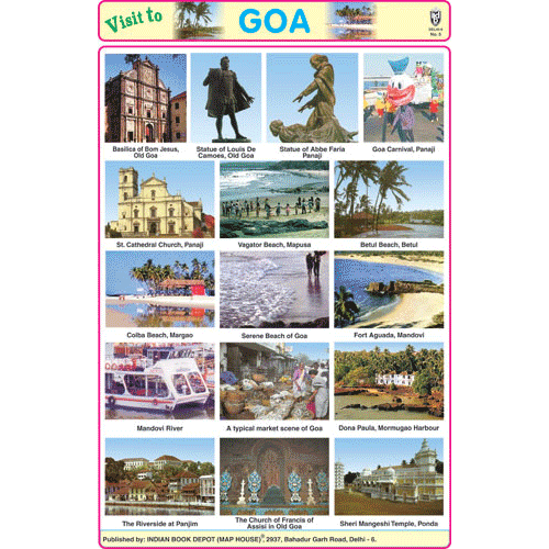 GOA SIZE 24 X 36 CMS CHART NO. 182 - Indian Book Depot (Map House)