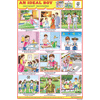 AN IDEAL BOY (GOOD HABITS) CHART SIZE 12X18 (INCHS) 300GSM ARTCARD - Indian Book Depot (Map House)